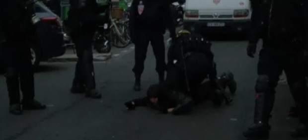 Policía antidisturbios en Francia
