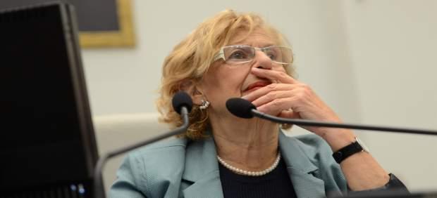 La regidora de Madrid, Manuela Carmena, durante un pleno en el Ayuntamiento
