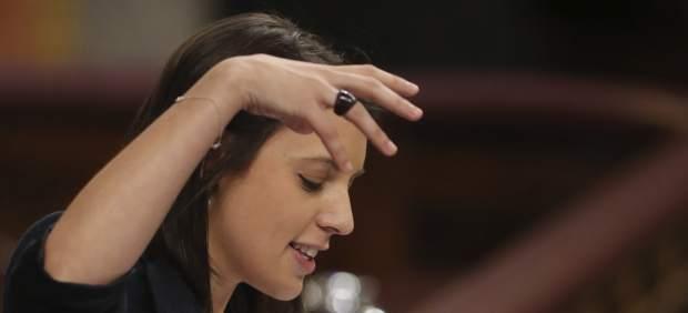 Irene Montero, durante la Moción de Censura en el Congreso.