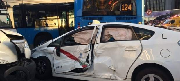 Accidente múltiple en Madrid