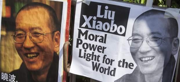 Pancartas Liu Xiabo
