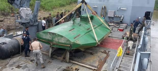 Submarino eléctrico para transportar cocaína