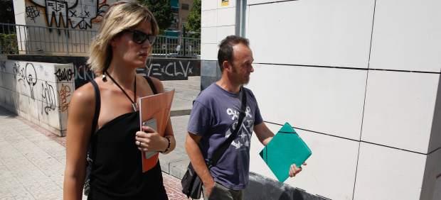 El exmarido de Juana Rivas y padre de los 2 menores, en Maracena (Granada)