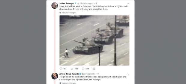 Assange vs Pérez-Reverte