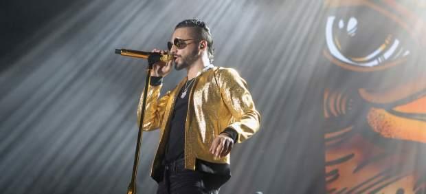 Maluma durante su concierto en el Wizink Centre de Madrid