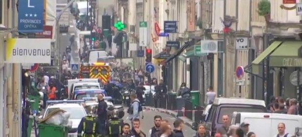 Centro de París durante el incidente