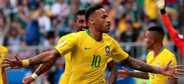 Gol de Neymar con Brasil