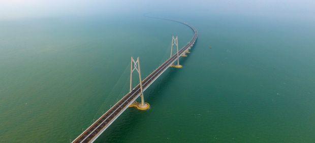 Puente Zhuhai Macau, en China