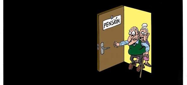 'Pensionistas', viñeta de Asier