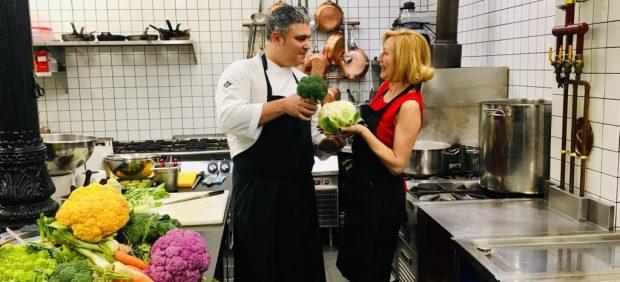 """Ricardo Álvarez, chef del restaurante """"Huerta de Carabaña""""."""