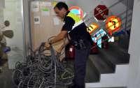 Detenido por robar más de 5.000 metros de cable de cobre del alumbrado público en Tomares