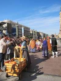 Un total de 55 grupos, en la Ofrenda de Frutos a la Virgen del Pilar