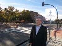 El nuevo semáforo de la Avenida de Sagunto de Teruel se pone en funcionamiento