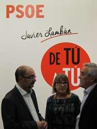 Lambán (PSOE) asevera que luchará contra la brecha salarial