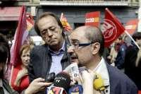 Lambán (PSOE) pide a Rudi que se posicione sobre el trasvase del Ebro