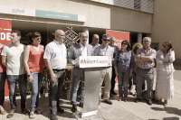 Lambán (PSOE) promete paralizar el hospital