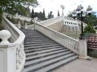 Finaliza la restauración de las escaleras del Batallador en el Parque Grande