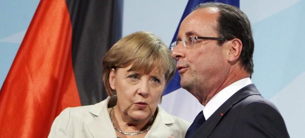 Primer encuentro Merkel-Hollande