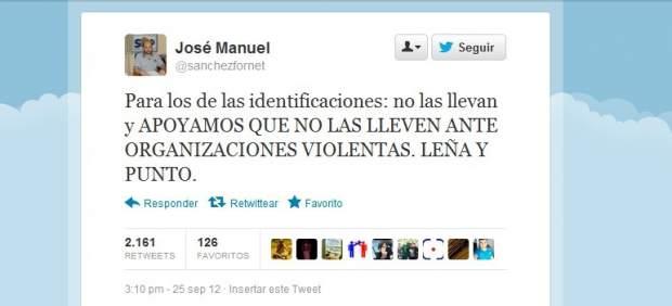 Sánchez Fornet en twitter