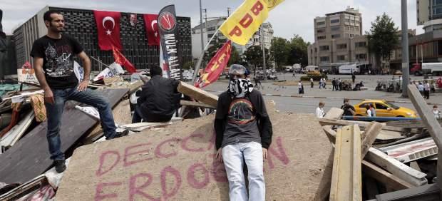 Activistas en el parque Gezi