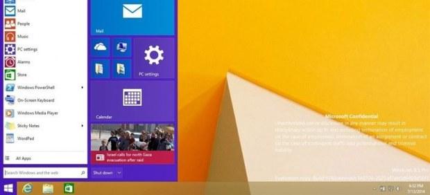 Pantalla principal de Windows 9 con el nuevo botón de inicio - Microsoft / 20minutos.es