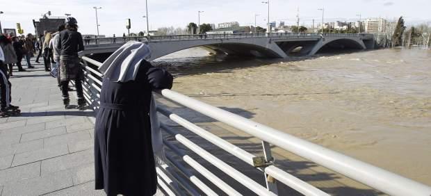 Ebro desbordado en Zaragoza