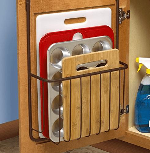 amazon kitchen mat ikea renovation ideas spectrum diversified 53624橱柜门侧收纳架,青铜色, 原价$22, 现仅售$7.20 ...