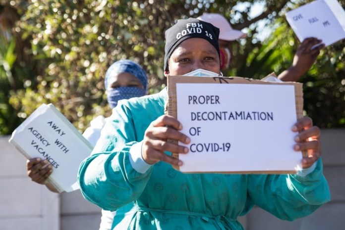 Nomzamo Mngupane has been a nurse for six years. She said there have been staff shortages since 2018 and it has got worse since the Covid-19 pandemic. (Ashraf Hendricks, GroundUp)