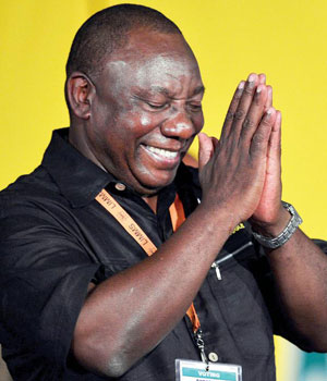 Image result for Cyril Ramaphosa as president