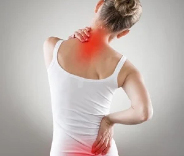 Woman With Lower Back Pain And Neck Pain