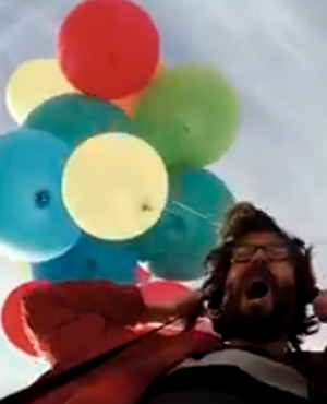chair with balloons electric swing man flies over joburg on camping held up by 100 news24