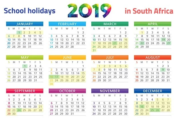 PRINT IT SA39s School Holidays 2019 Calendar Parent24