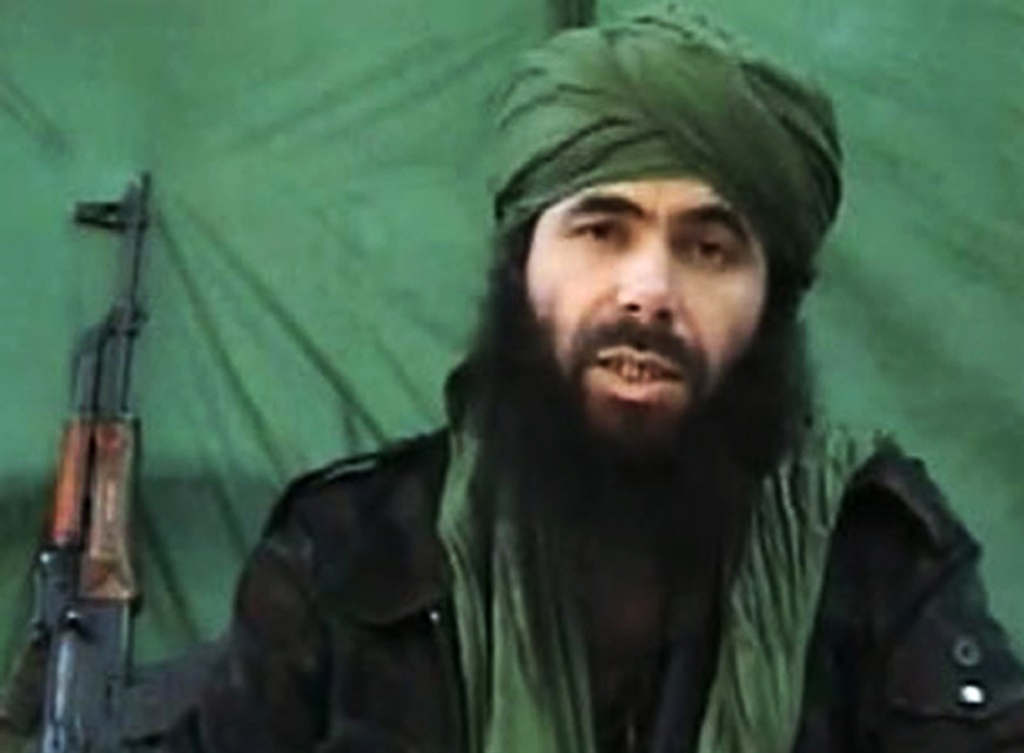 This undated handout file photo taken on 26 July, 2010 apparently shows Al-Qaeda in the Islamic Maghreb (AQIM) chief Abdelmalek Droukdel, aka Abu Musab Abdul Wadud speaking at an unknown location. Al-Qaeda in the Islamic Maghreb (AQIM) chief Abdelmalek Droukdel was killed on 5 June, 2020 in Mali. (Hand-Out / AFP)
