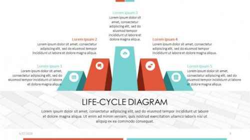 small resolution of life cycle diagram powerpoint template