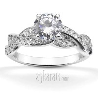 Infinity Shank Pave Set Diamond Engagement Ring (0.54ct. tw.)