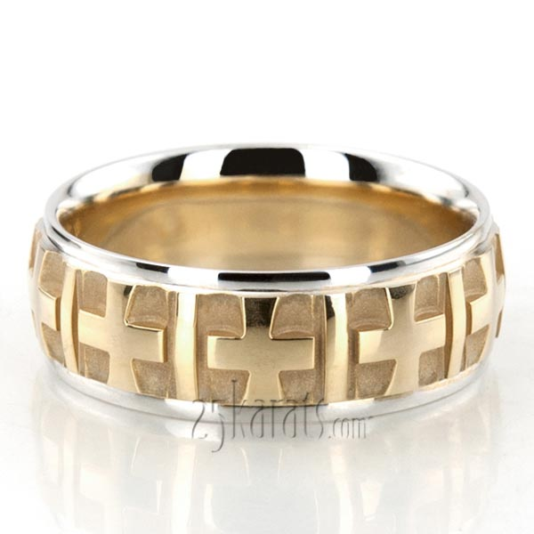 Fine Cross Religious Wedding Ring  BA101125  14K Gold