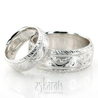 Wedding Band Sets, His and Hers Wedding Bands, Matching ...