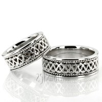 HH-HC100248 14K Gold Traditional Celtic Handmade Wedding ...