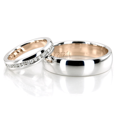 Wedding Band Sets, His and Hers Wedding Bands, Matching