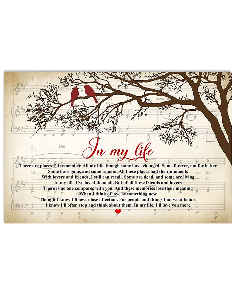 in my life the beatles lyrics 24x16 poster size white