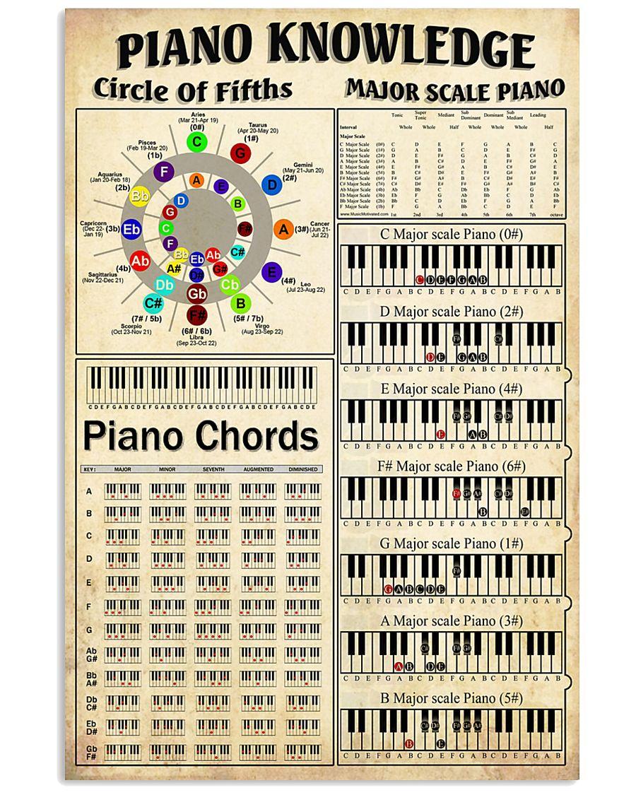 piano knowledge 11x17 poster size white