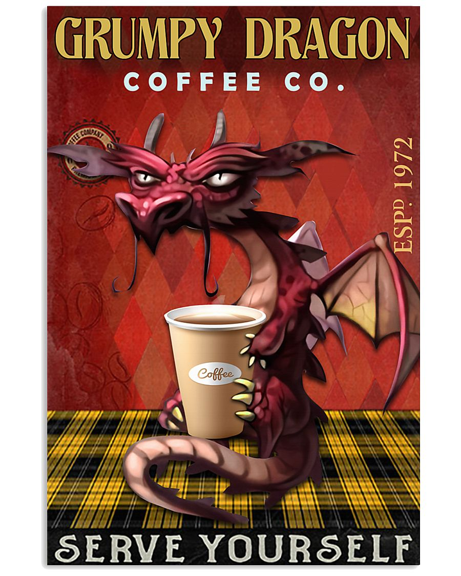 Dragon Coffee : dragon, coffee, Grumpy, Dragon, Coffee