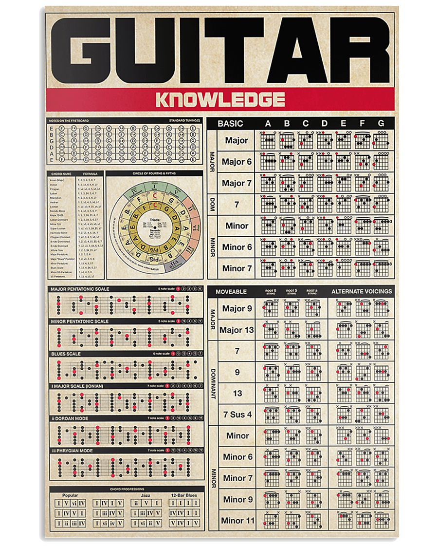 guitar knowledge poster