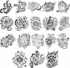 CNC Jali Cutting Pattern Collection Coreldraw Vector (.cdr