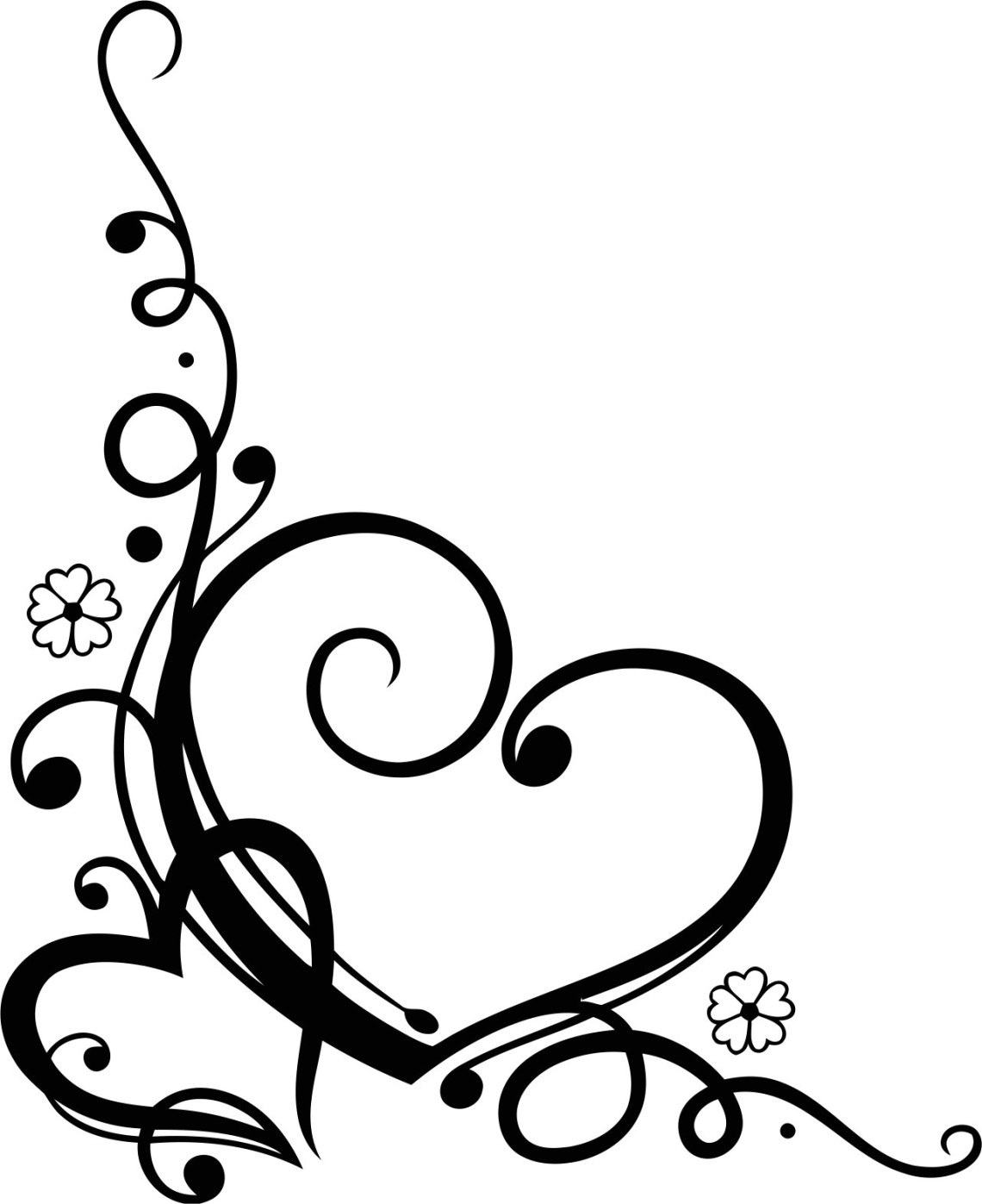 Download Love Heart Floral Vector Free Vector cdr Download - 3axis.co