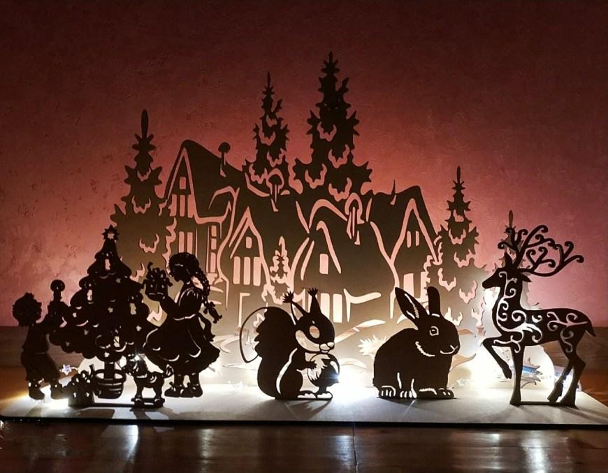 Laser Cut Christmas Window Lights Decorations Ideas Free Vector