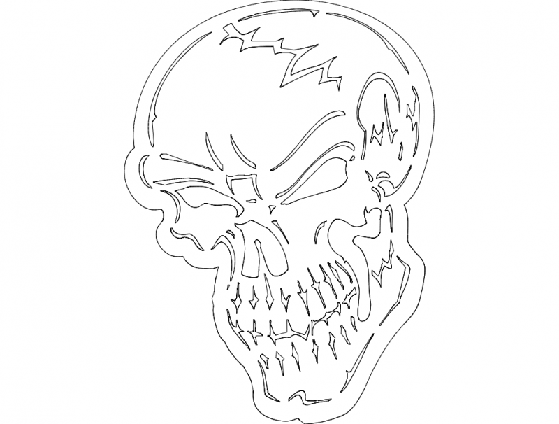 Skull Dxf Free Download