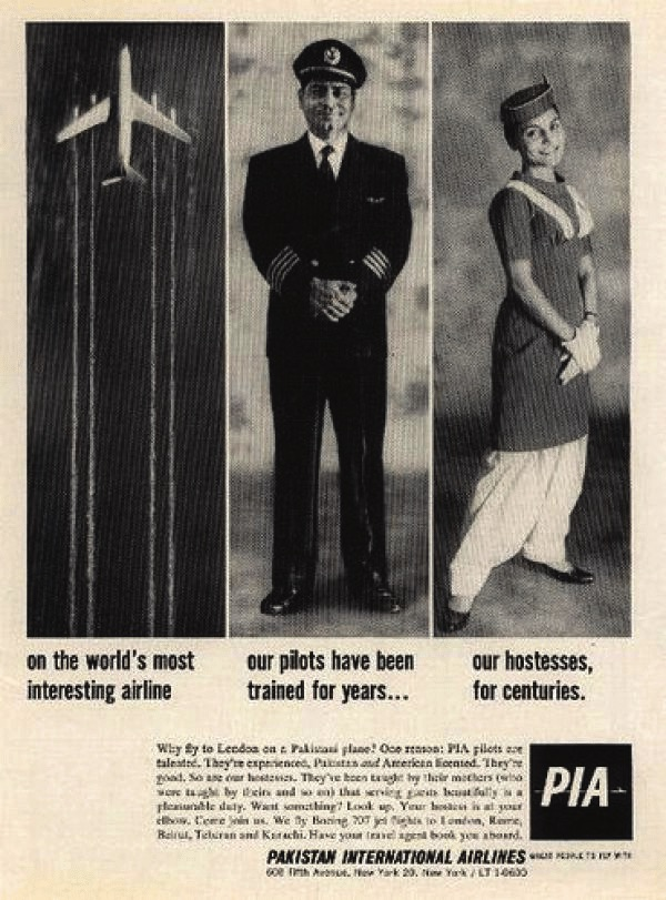 PIA advertisement flyer circa 1962 showing the companies' pride in having the best pilots and air hostesses.