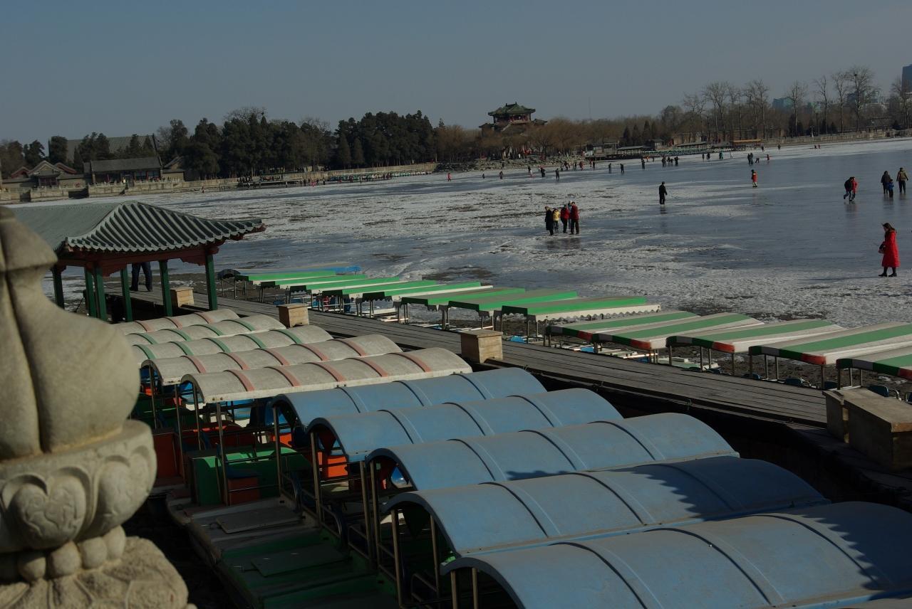『『頣和園の冬景色』北京北西にある清朝離宮庭園の冬』北京 ...