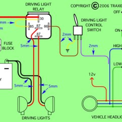 Ipf 900xs Wiring Diagram Ford F 150 Fuse Box Installing New Spotlights On 4x4 4x4earth The Diagrams Show Relay Pin Connections And Recommended Cable Sizes For Best Results